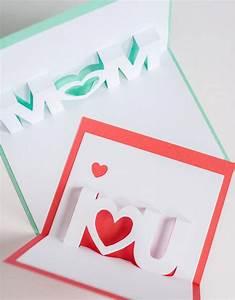 I Love You and Mom Pop-Up Cards | AllFreePaperCrafts.com