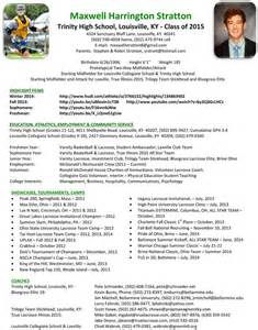 lacrosse coach resume athletic resume for college template ebook database