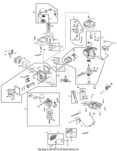 Mtd Pfua Engine Parts Diagram For Assembly