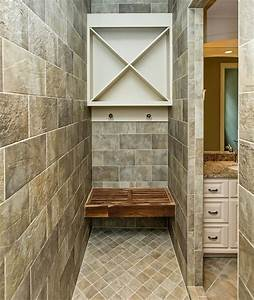A, Built, In, Steam, Room, Towel, Storage, Area, In, This, Large, Walk, In, Shower, Love, The, Teak, Wood