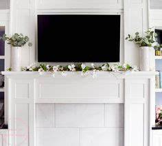 mantel with TV decorating ideas