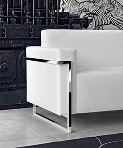 Canapé Cuir Blanc 2 Places : memoria canap 2 places en cuir blanc ~ Teatrodelosmanantiales.com Idées de Décoration