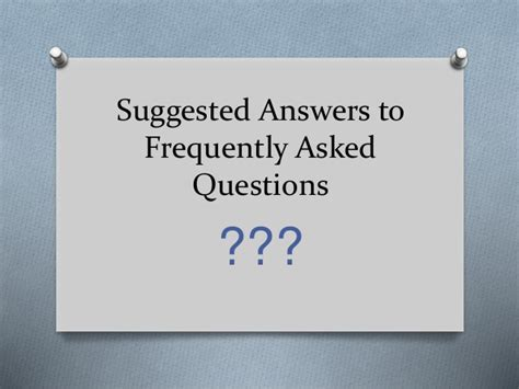 Frequently Asked Questions About The Gnu Suggested Answers To Frequently Asked Questions In A