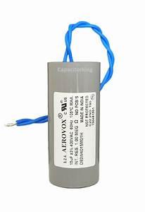 Aerovox Lighting Capacitor - 15uf 400 Volt - Metal Halide - D83w4015m  4617-p  Dry Film