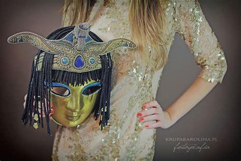 Maska Kleopatra - sesja | Maska, Maski