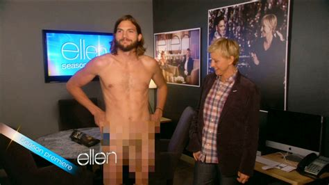 Ellen DeGeneres Photos Photos - Ashton Kutcher Strips Down on 'Ellen' - Zimbio