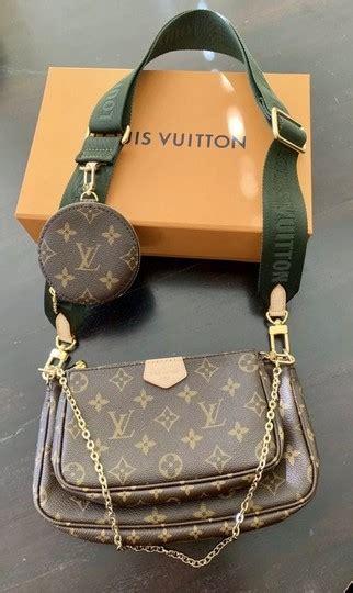 louis vuitton pochette multi accessories brown monogram canvas cross body bag tradesy
