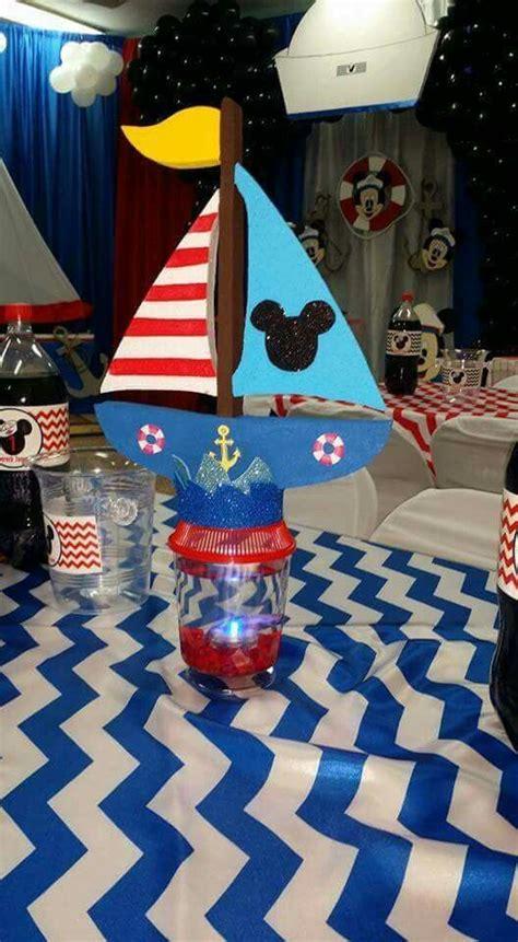 mickey nautical sailor centerpiece beta fish tank mickey