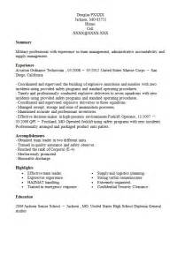 Marine Resume Ordnance Tech Resumes Design