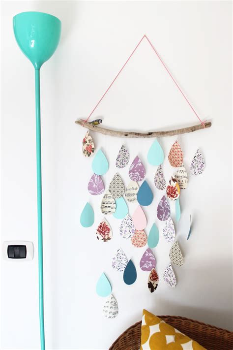 Diy Rain Drop Mobile Inspiration  Cartas Pinterest