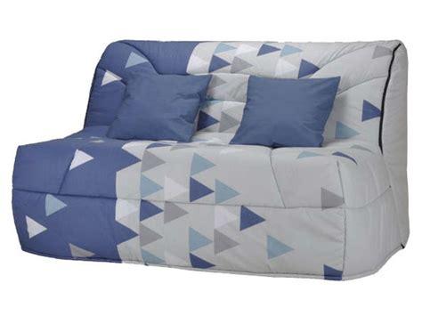 housse de canapé bz conforama housse pour bz prima 140 cm prima triangle coloris bleu