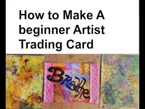 beginner artist trading card youtube