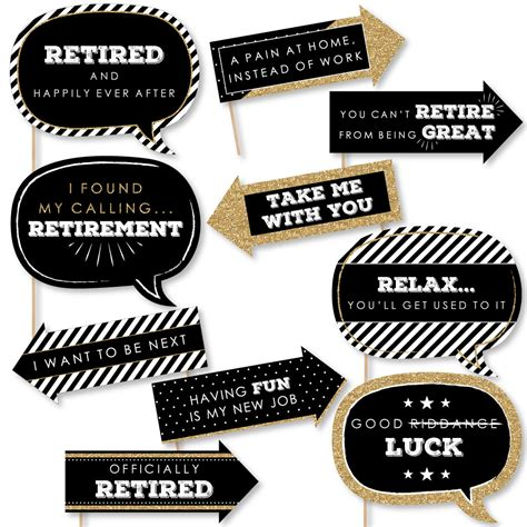 Virtual retirement parties are retirement celebrations held via video call platforms like zoom and webex. Funny Happy Retirement - Retirement Party Photo Booth Props Kit - 10 Piece - Walmart.com ...