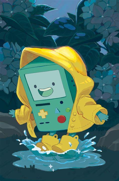 foto de Adventure Time : BMO jugando en la lluvia Adventure time