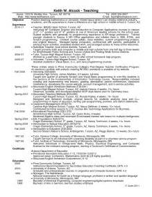 objectives in resume for math teachers high school math resume entry level objective free resumes sles primary
