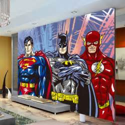 aliexpress com buy custom 3d wall murals batman superman
