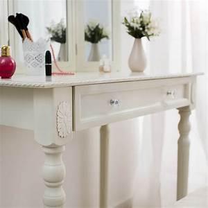 3 Teiliger Spiegel : schminktisch kosmetiktisch frisierkommode frisiertisch mit spiegel hocker neu ebay ~ Bigdaddyawards.com Haus und Dekorationen