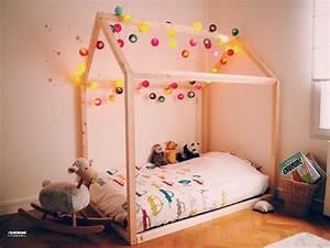 Lit Cabane Au Sol : lit cabane au sol de maman louve ~ Premium-room.com Idées de Décoration
