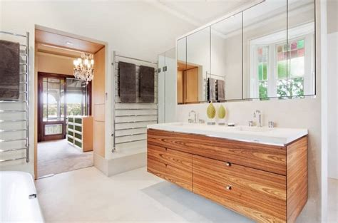55 primary bathrooms with floating vanities photos