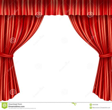 theater curtains isolated stock vector illustration