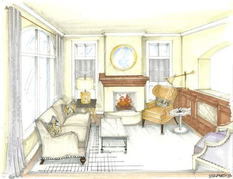 image result  living room drawing interior design