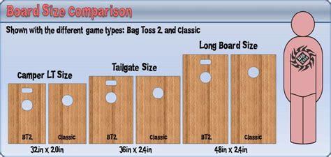bag toss cornhole board size comparison games outdo