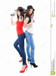 Cool Girls With Guns Stock Photos - Image: 24153433