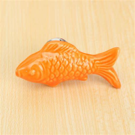 fish cabinet knobs drawer pulls retro fish ceramic door knob children room cupboard