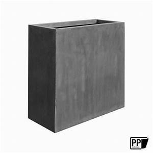 Pflanzkasten 100 Cm : pflanzkasten grau aus fiberstone als raumtrenner geeignet ~ Watch28wear.com Haus und Dekorationen