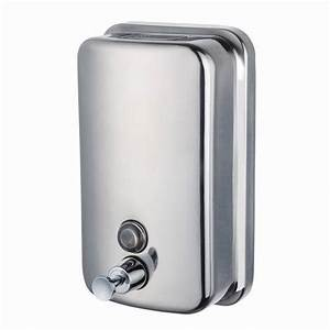 China 500ml Wall Mounted Without Lock Manual Stainless