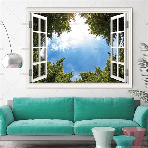 Used cleverly, fabric walls can add a mysterious element to your home décor. Picturer prints on Trees Outside the Window home decor Wall poster Canvas painting Wall Art ...