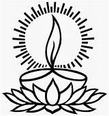 Diya Diwali sketch template