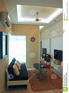 A Compact Living Room Design Stock Image