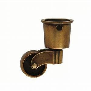 Hickory hardware 2 5 8 in x 1 1 2 in brown windsor for Furniture rollers home depot