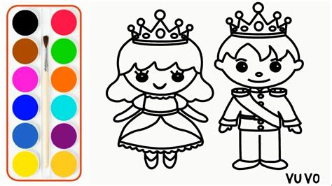 king  queen drawing  coloring pages halaman