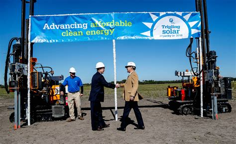 fl power and light florida power light breaks ground on large solar