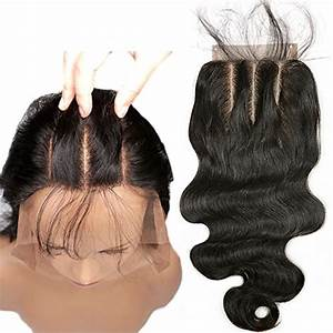 Save part lace closure body wave human hair