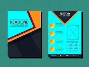 Flyer Design Template Layout In Dark Color Free Vector In