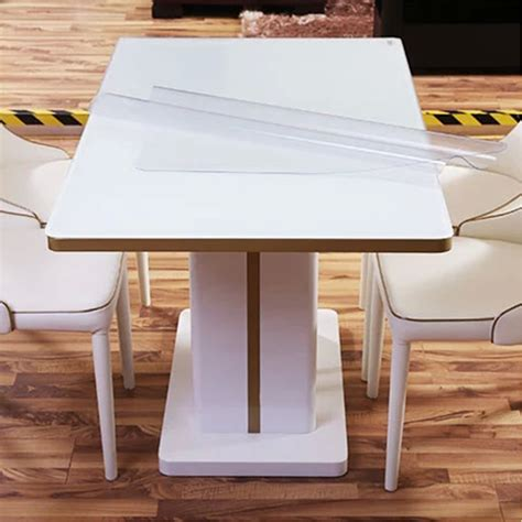dining room table protector clear yazi pvc clear tablecloth waterproof table protector