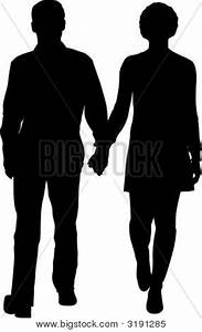 Vector Walking Couple Vector & Photo | Bigstock