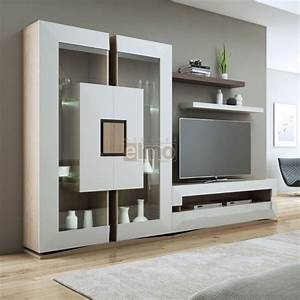 ensemble meuble tv contemporain chene de france With meuble tv sur mesure design 2 meuble tv living design moderne portes push laque