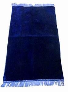 Tapis Bleu Nuit : tapis de pri re musulman en velours couleur unie bleu nuit ~ Teatrodelosmanantiales.com Idées de Décoration