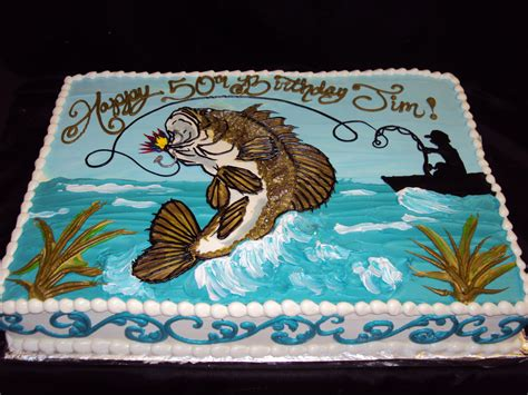bass fish cake sugarbakers cakes pretty to eat not to