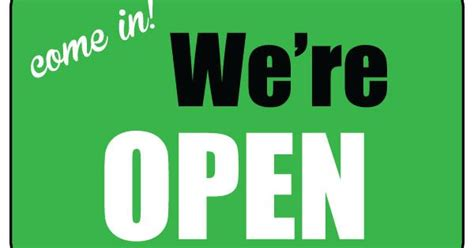printable  open sign business sign
