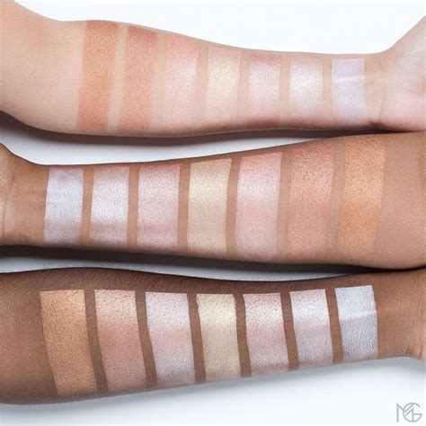 Makeup Geek Highlighter Swatches (all Shades)  Top Beauty