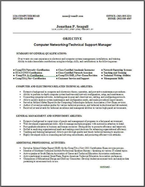 technical support summary resume 28 images writing