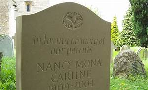 Memorials and headstones giles macdonald lettering website for Headstone lettering