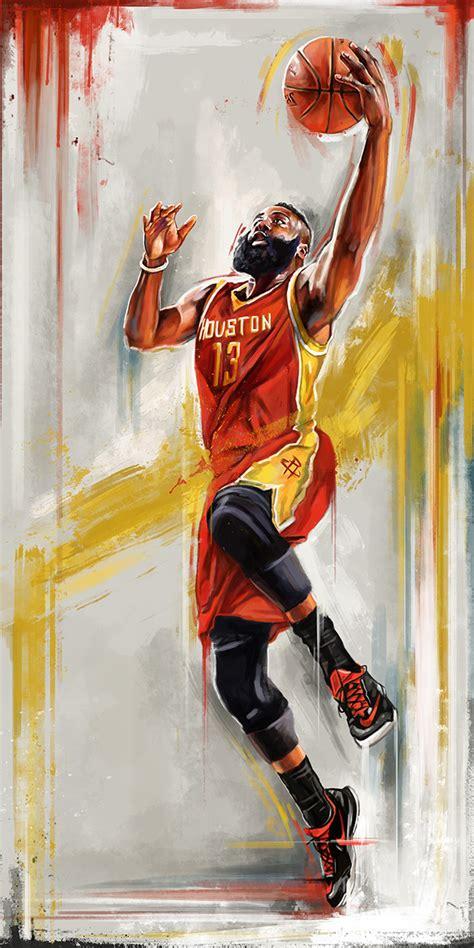 nba playoff player illustrations  wacom gallery