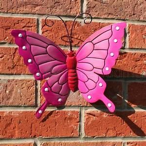 Butterfly large pink metal butterflies wall art outdoor
