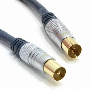 Fil D Antenne Tv : pure ofc rf rg6 coaxial tv antenne fil en or m le femelle rallonge ebay ~ Melissatoandfro.com Idées de Décoration